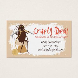 Custom color funny cockroach knitting needles yarn business card