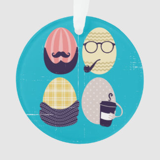 Custom color funny hipster Easter eggs