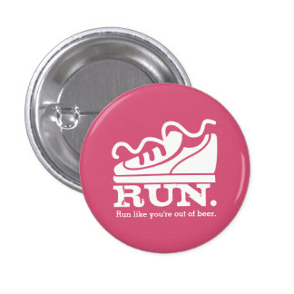 Custom color funny sneaker running beer pinback button