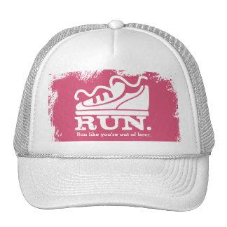 Custom color funny sneaker running beer trucker hat