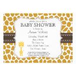 Custom Color Giraffe Baby Shower Invitations