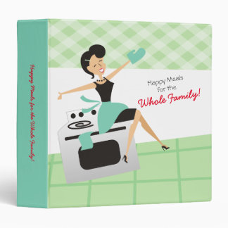 Custom color happy housewife recipe cookbook 3 ring binders