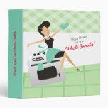 Custom color happy housewife recipe cookbook binder