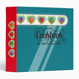 custom color heart vegetables personal cookbook binder