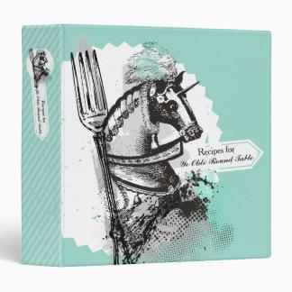 Custom color horse fork personal recipe cookbook 3 ring binder