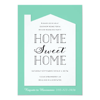 Custom Color House Warming Party Invitation