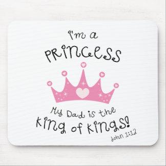 Custom Color I'm a Princess Crown Design Mouse Pad