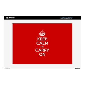 Custom color Keep calm Decal For Laptop