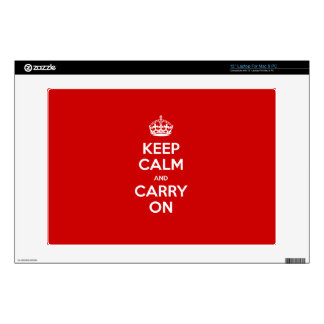 "Custom color Keep calm 13"" Laptop Skins"