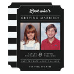 Custom Color Kid Photo Save The Date Announcement at Zazzle