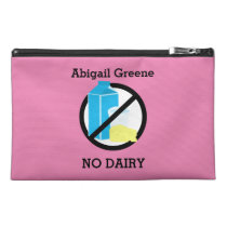 Custom Color Kids Dairy and Milk Allergy Alert Travel Accessory Bag