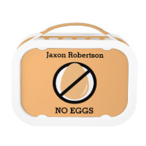 Custom Color Kids Egg Allergy Egg Free Symbol Lunch Box