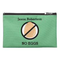 Custom Color Kids Egg Free Symbol Allergy Travel Accessory Bag