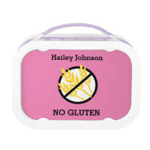 Custom Color Kids Gluten Free Symbol Lunch Box