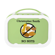 Custom Color Kids Tree Nut Peanut Free Allergy Lunch Box