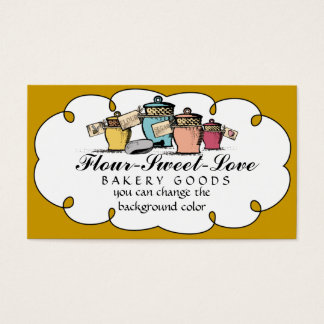 Custom color kitchen cannisters baking biz cards