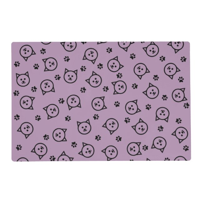 Custom Color Kitty Pattern Placemat