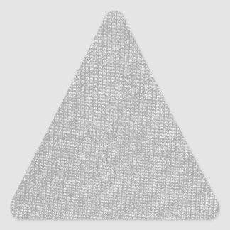 Custom Color Knit Texture Triangle Sticker