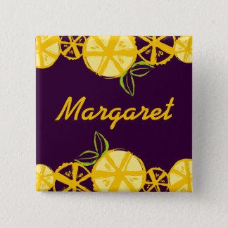 custom color lemon slice baking cooking name badge button