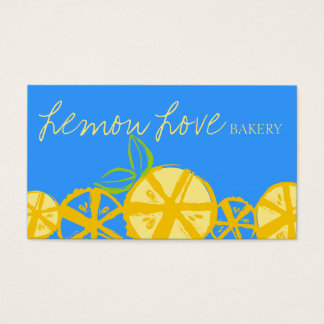 custom color lemon slices baking cooking catering business card