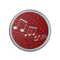 Custom Color Leopard Print Sheet Music Speaker