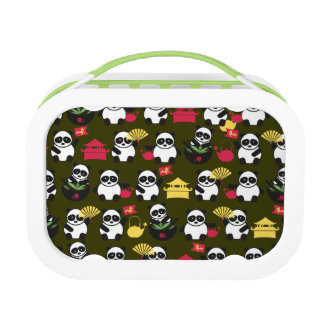 custom color lucky Chinese kawaii pandas Yubo Lunchboxes