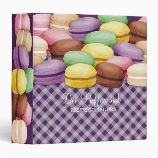Custom color macaroon meringue cookies bakery binder