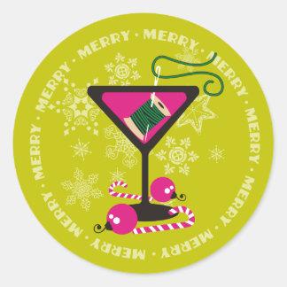 custom color martini sewing thread Christmas label