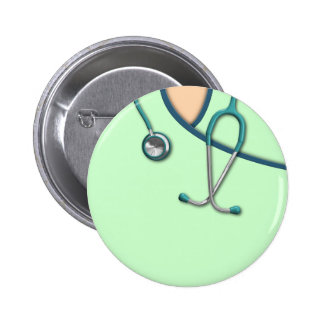 Custom Color Medical Scrubs Pinback Buttons