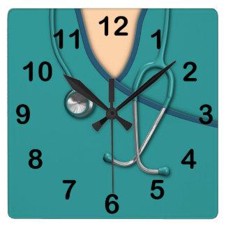 Custom Color Medical Scrubs Square Wallclock