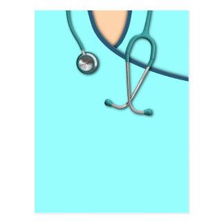 Custom Color Medical Scrubs Postcard