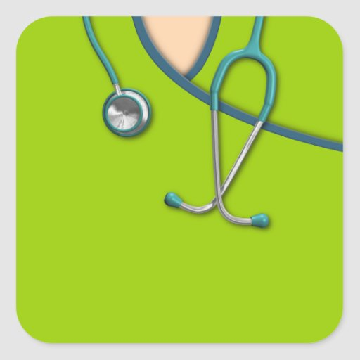Custom Color Medical Scrubs Square Sticker