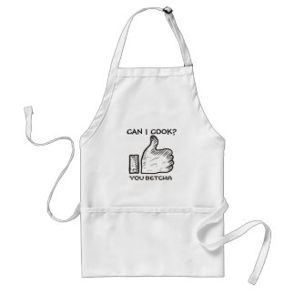 Custom color midwestern lingo you betcha thumbs up adult apron