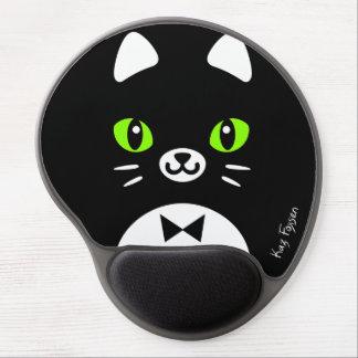Custom Color Minimalist Tuxedo Cat Cartoon Gel Mouse Pad