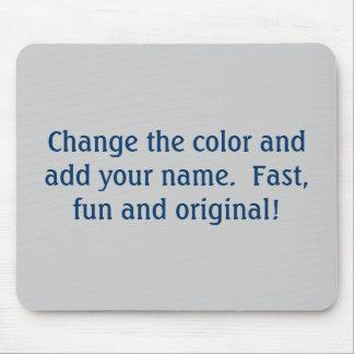 Custom color mousepad