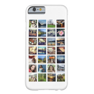 Custom Color Multi Photo Instagram Collage Barely There iPhone 6 Case