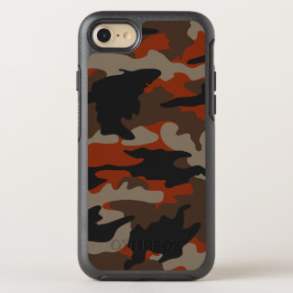 Custom Color Orange Camo Camouflage Pattern Rugged OtterBox Symmetry iPhone 7 Case