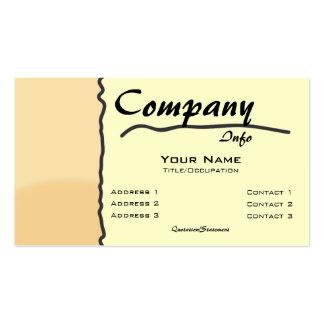 Custom Color-Orange Scribble Seperation Business Card