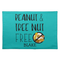 Custom Color Peanut Tree Nut Free Allergy Kids Placemat