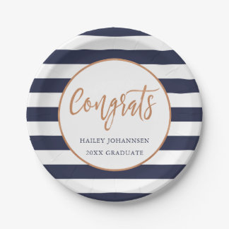 Custom Color Personalized Graduation Party Plates