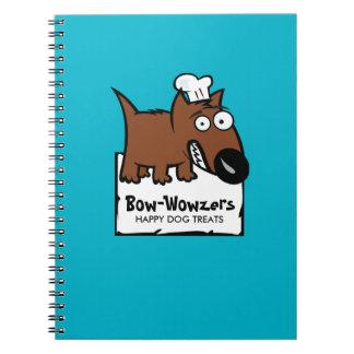 Custom color pet food chef dog food dog treats notebook