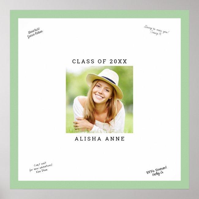 Custom Color Photo Graduation Signature Message Poster