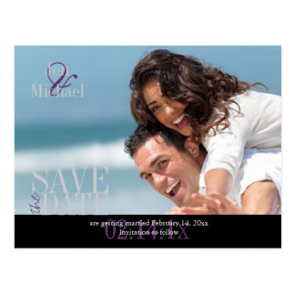 Custom Color, Photo Save the Date Postcards