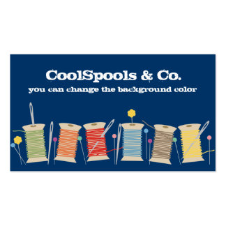 Custom color pins needles thread sewing biz card