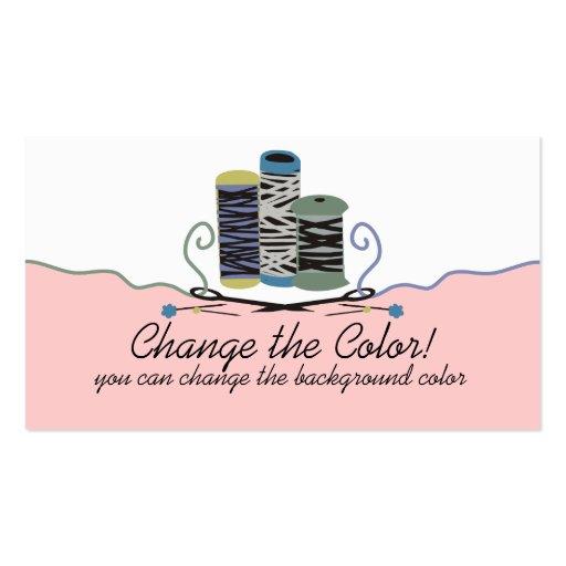 Custom color pins needles thread sewing biz card business card template