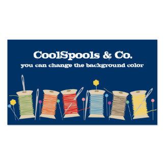 Custom color pins needles thread sewing biz card business card