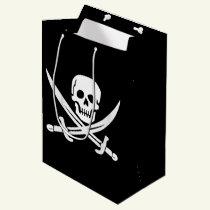 Custom Color Pirate/Skulls/Swords Black Gift Bag