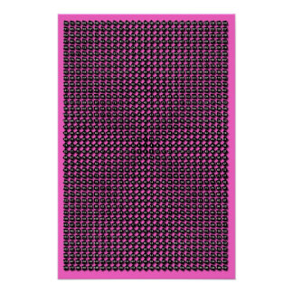 Custom Color Radial Multiplication Table Poster
