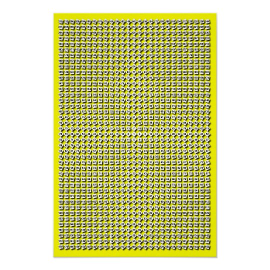 Custom Color Radial Multiplication Table Poster Zazzle Com