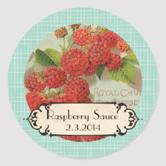 custom color raspberries fruit canning label sticker